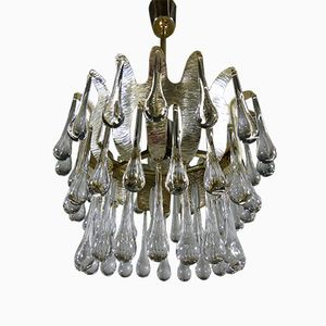 Vintage Silver-Plated Chandelier