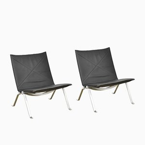 PK22 Lounge Chairs by Poul Kjærholm for Kold Christensen, 1980s, Set of 2