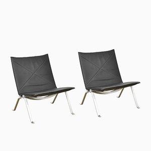 PK22 Sessel von Poul Kjærholm für Kold Christensen, 1980er, 2er Set
