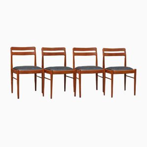 Solid Teak Model 382 Chairs by H.W Klein for Bramin, 1960s, Set of 4