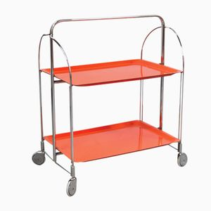 Orange Serving Trolley from Bremshey, 1970s