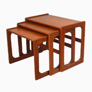Danish Nesting Tables in Teak, 1960s