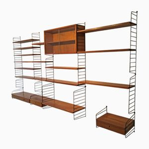 "Mid-Century Shelf System by Kajsa & Nils ""Nisse"" Strinning for String"