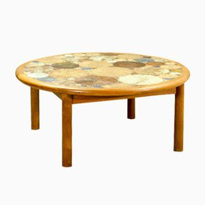 Ceramic Art Tiled Coffee Table by Tue Poulsen for Haslev, 1960s