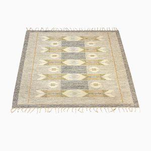 Schwedischer Vintage Rölakan Flachgewebe Teppich von Ingegerd Silow