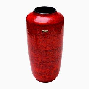 Mid-Century Red Europ Linie Vase from Scheurich