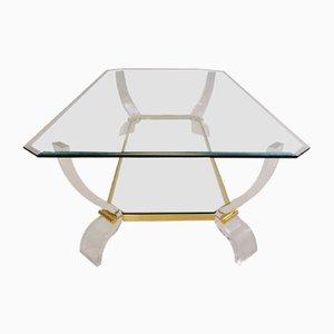 Tisch aus Lucite und Messing, 1980er