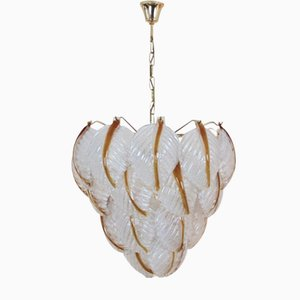 Murano Glass Leaves Chandelier from Mazzega, 1970s