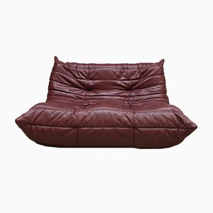 Vintage Leather Togo Sofa by Michel Ducaroy for Ligne Roset, 1970s
