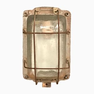 Vintage Industrial Caged Bully Wall Light