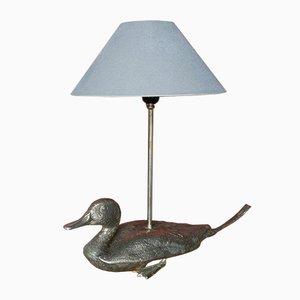 Metall Lampe mit Ente, 1960er