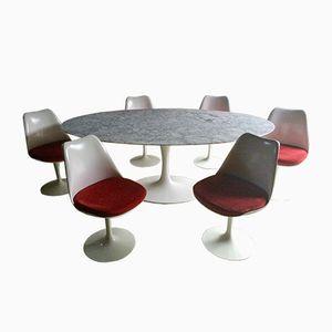 Vintage Marble Tulip Dining Set by Eero Saarinen for Knoll