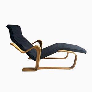 Long Chair Noire Vintage par Marcel Breuer