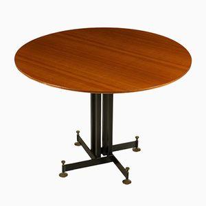 Mahogany Veneer Dining Table, 1960s