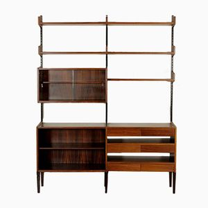 Rosewood Veneer Wall Unit, 1960s