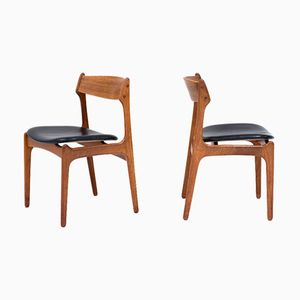 Model 49 Dining Chairs by Erik Buch for O.D. Møbler, 1957, Set of 6