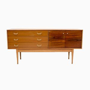 Teak and Rosewood Sideboard by Uniflex, 1960s