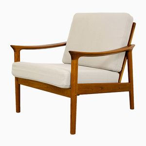 Vintage Danish Teak Easy Chair, 1960s