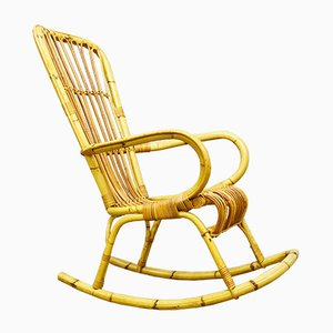 Rocking Chair en Bambou, 1970s