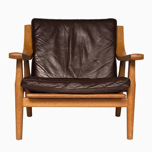 GE530 Oak Lounge Chair by Hans Wegner for Getama, 1960s