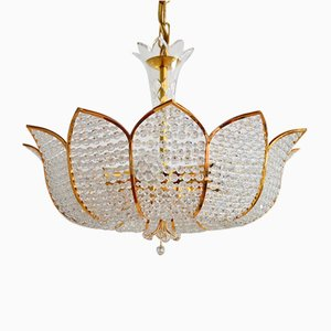 Regency Gilt Crystal Chandelier by Palwa, 1970s