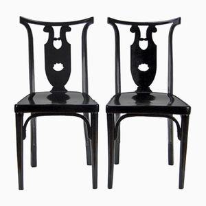 Viennese Secession Chairs by Josef Hoffmann for J&J Kohn, 1915, Set of 2