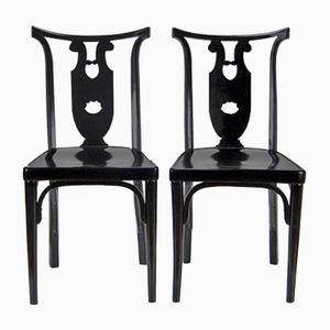 Wiener Secession Stühle von Josef Hoffmann für J&J Kohn, 1915, 2er Set