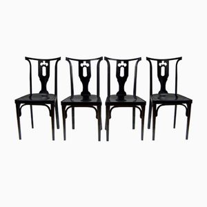Viennese Secession Chairs by Josef Hoffmann for J&J Kohn, 1915, Set of 4