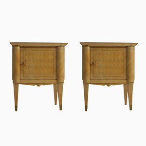 French Art Deco Nightstands, 1940s, Set of 2