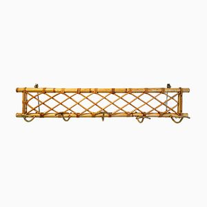Vintage Rattan Wall Mounted Coat Rack
