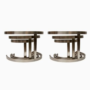 Nesting Side Tables by Wade Beam for Brueton, 1980s, Set of 2