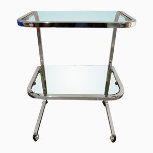 Vintage Smoked Glass Side Table, 1970s
