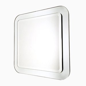 Italian Square Beveled Wall Mirror, 1970s