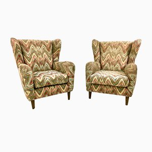 Armchairs with Fabric by Rosita Missoni, 1950s, Set of 2