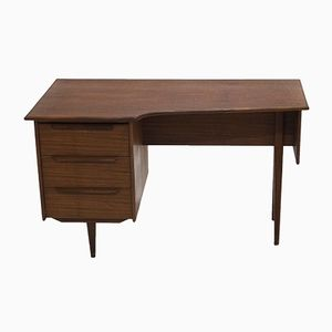 Asymmetrischer Teak Schreibtisch, 1960er