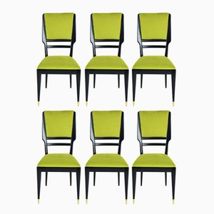 Italian Dining Chairs, 1950s, Set of 6