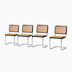S32 Freischwinger Stühle von Marcel Breuer & Mart Stam für Thonet, 1920er, 4er Set