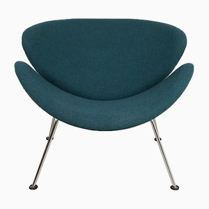 Vintage Teal Orange Slice Chair by Pierre Paulin for Artifort