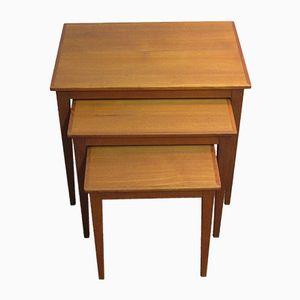 Scandinavian Teak Nesting Tables, 1970s, Set of 3