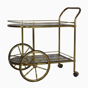 Vintage Brass Serving Cart, 1970s