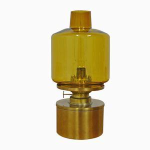 Kerosene Oil Lamp in Brass and Glass by Hans-Agne Jakobsson, 1950s
