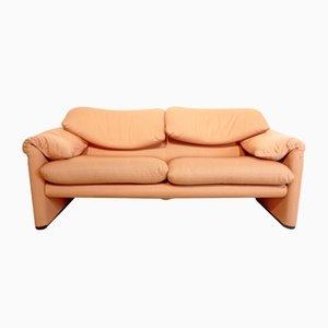 Maralunga Zwei-Sitzer Sofa von Vico Magistretti für Cassina, 1950er