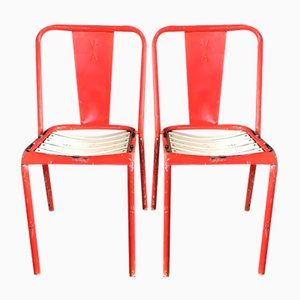 T4 Chairs by Jean Pauchard from Tolix, 1950s, Set of 2