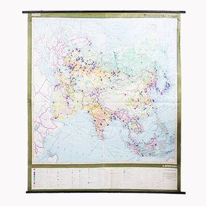 Carte de l'Asie Vintage, 1970s