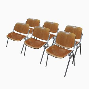 Mid-Century Stacking Chairs by Giancarlo Piretti for Castelli, 1960s, Set of 6