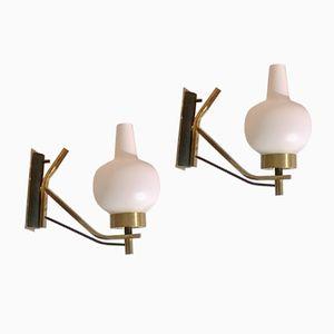 Italienische Wandlampen von Stilnovo, 1950er, 2er Set