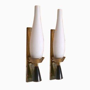 Wandlampen von Stilnovo, 1950er, 2er Set