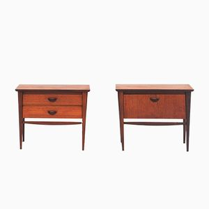 Teak Veneer Nightstands by Louis van Teeffelen for Wébé, 1950s