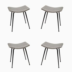 Mid-Century Stools, Set of 4