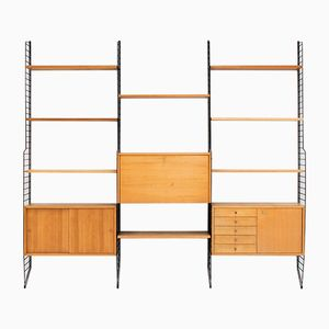 "Ash Veneer Wall Unit by Kajsa & Nils ""Nisse"" Strinning for String, 1940s"